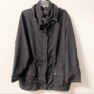 Lands End Black Raincoat Jacket Plus Size 3X
